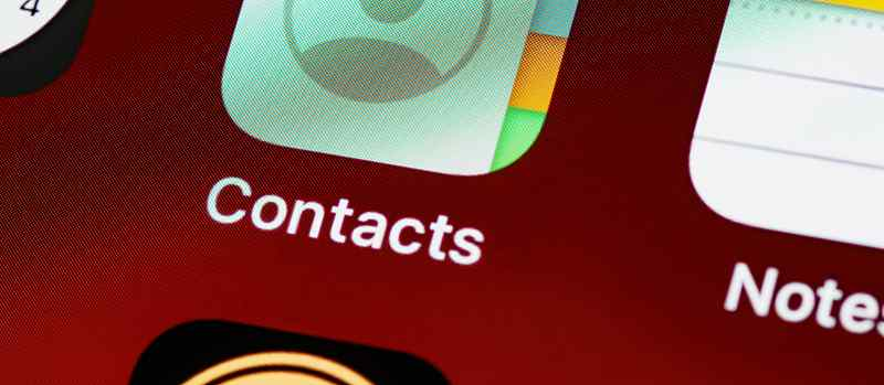Iphone contacts list button home screen